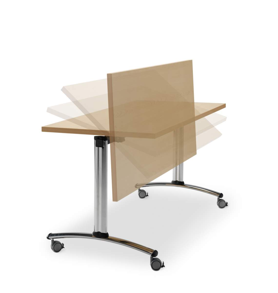 Table de r union avec plateau rabattable mobilier de for Mobilier bureau 64